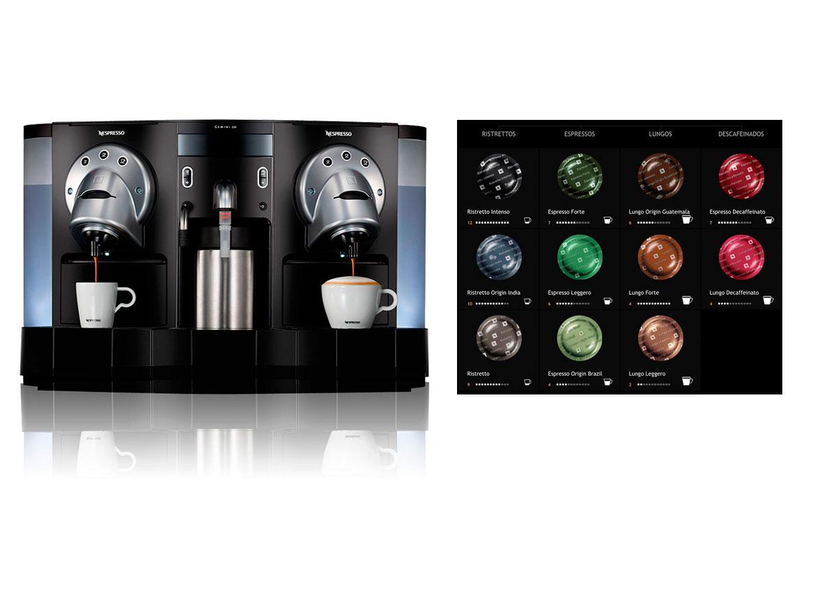 Máquina vending nespresso